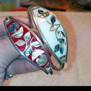 Bundle of Two Beautiful Silver Mexican Bracelets